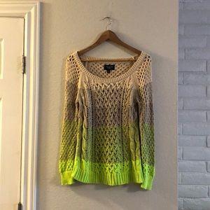 American Eagle open knit ombré sweater